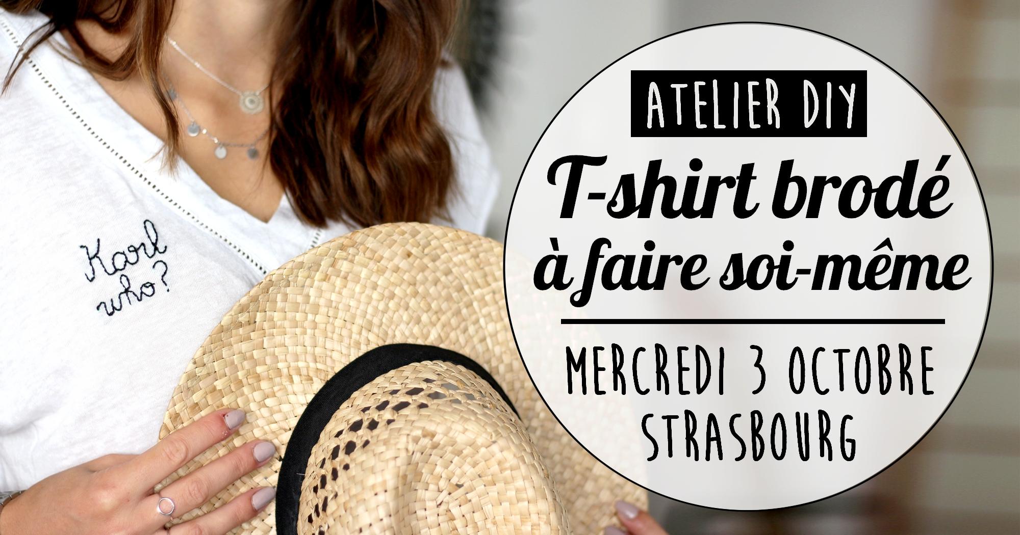Atelier DIY : Viens faire ton T-shirt à message brodé