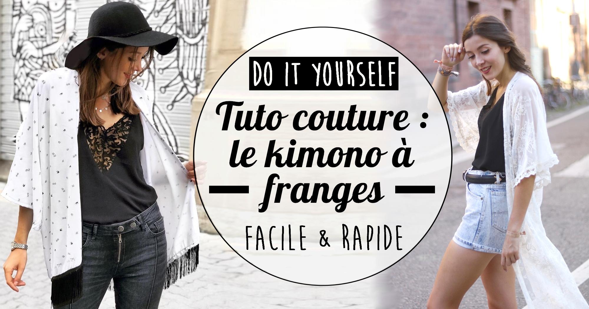 DIY couture : tuto facile et rapide pour coudre son kimono à franges