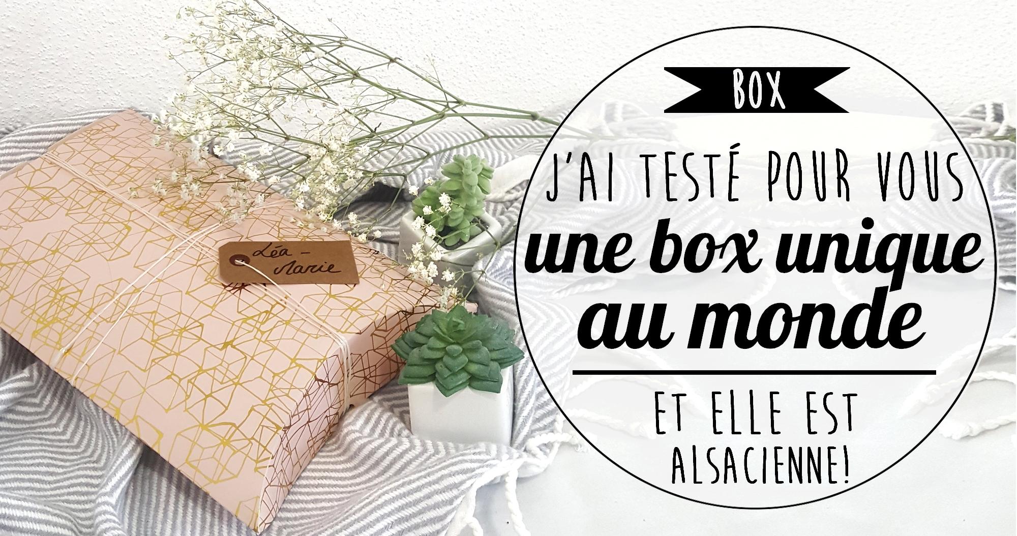 J'ai testé pour vous : la box unique au monde faite par une Alsacienne