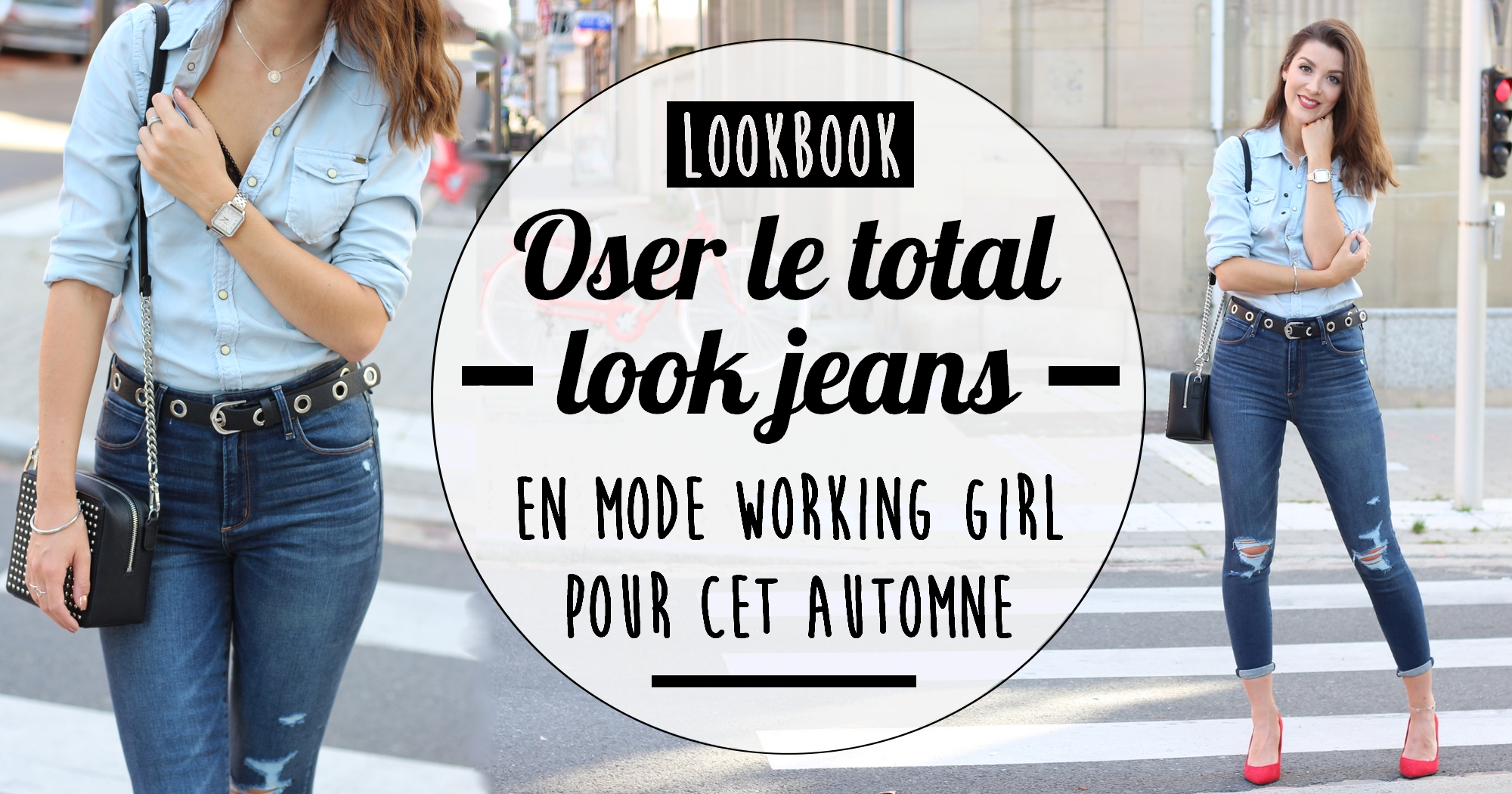 Look : Oser le total look jeans comme une vraie working girl