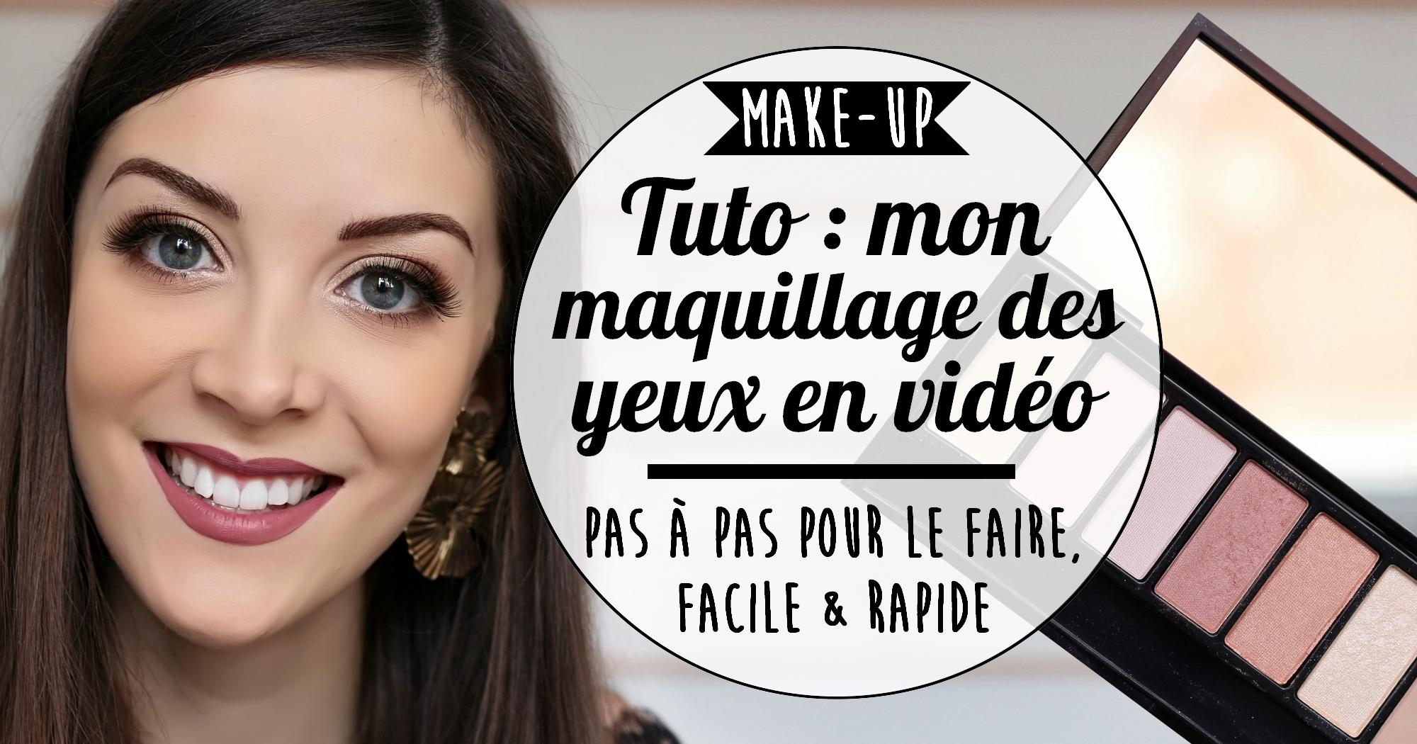 Tuto make-up : mon maquillage des yeux dans les tons rosés (vidéo)