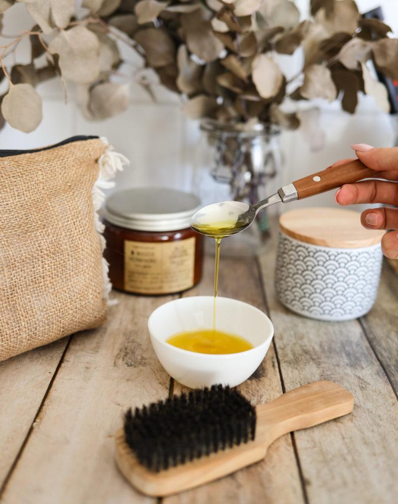 recette masque huile de ricin et d'argan pour faire pousser les cheveux plus vite