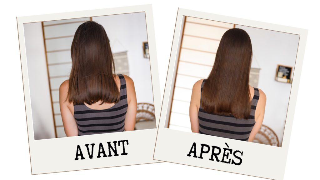 avant / après cure forcapil  faire pousser les cheveux