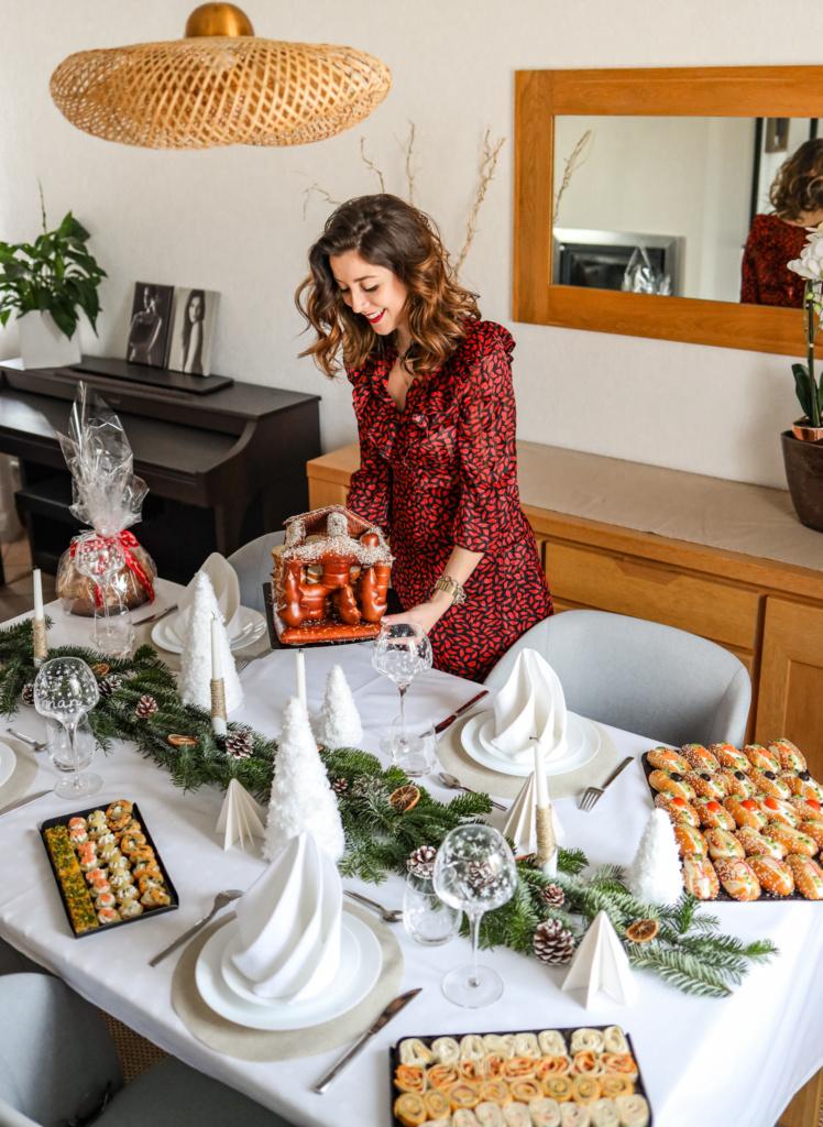Décoration de table de fêtes DIY de Noël